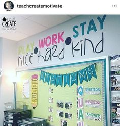 Love, love, love This quote wall from @teachcreatemotivate ! She is speaking my language! Don't you love it? Repost from @teachcreatemotivate #teachersfollowteachers 5th Grade Classroom, Classroom Design, Classroom Displays, Kindergarten Classroom, Future Classroom, School Classroom, Classroom Themes, Classroom Organization, Classroom Management