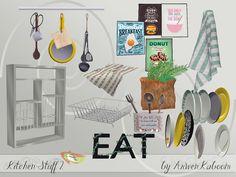 Kitchen Stuff 2 by ArwenKaboom at TSR via Sims 4 Updates