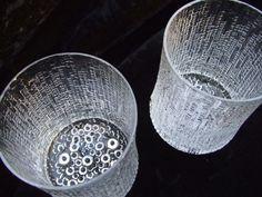 Set of 2 1968 Tapio Wirkkala littala Ultima Thule glasses