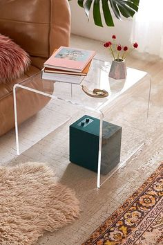 Shop Miotto Acrylic Curve Side Table at Urban Outfitters today. We carry all the latest styles, colors and brands for you to choose from right here. Wood Furniture Store, Acrylic Furniture, Furniture Decor, Acrylic Side Table, Living Room Decor, Bedroom Decor, Aesthetic Room Decor, Dream Apartment, House Design