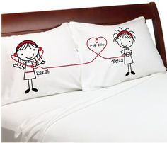 Listen to My Heart Lesbian Couple Gift Pillowcases ( White, Standard ) Girlfriend Valentine's Anniversary Couples Pillow Cases Wedding, Romantic Gift Idea for Her Cute Stick Figures Lgbt. Custom-PillowCases-by-StockingFactory http://www.amazon.com/dp/B00IX5CRW8/ref=cm_sw_r_pi_dp_-zYXtb1JNQVVRW4Y