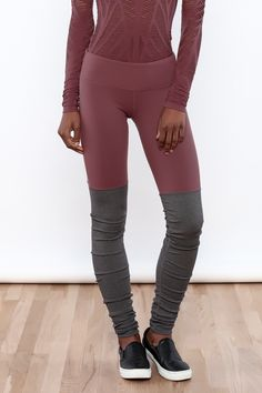 Longer inseam with ribbed contrast scrunches like legwarmers. Hidden key/card pocket in waistband  Goddess Legging by ALO Yoga. Clothing - Activewear New Jersey
