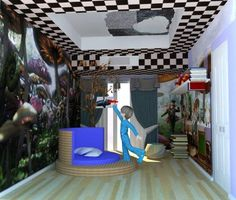 alice in wonderland bedroom
