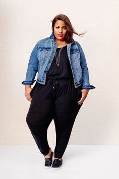 Exclusive: Every Pic From Target's New Plus Line, AVA & VIV #refinery29  http://www.refinery29.com/2015/01/81102/target-plus-size-lookbook-ava-viv#slide-7  Garner wears a $34.99 jumpsuit and $39.99 denim jacket.