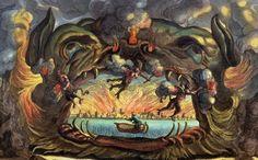 Cesti, Il Pomo d'Oro, Vienna 1668: Hell (Stage design L. Burnacini)