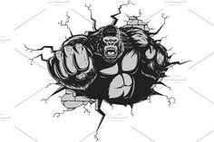 Angry gorilla - Illustrations - 2