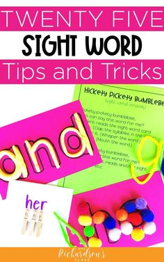 Go beyond flashcards to teach your kindergarten and first grade students their sight words! These big list of sight words activities will engage students and help them learn quickly. Plus grab the FREE printable of sight word games! Teaching Sight Words, Sight Words List, Dolch Sight Words, Spelling Words, Spelling Practice, Sight Word Centers, Sight Word Games, Sight Word Activities, Guided Reading Lessons