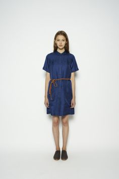Utility Dress in Navy Silk Twill  Silk Utility dress, easy wear champion. Gets our vote every time.   100% silk