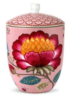PiP Studio - 'Floral Fantasy' Collection - Cannister, Pink