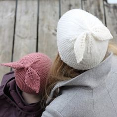 Ravelry: Happy Bow Hat pattern by Hobbii Design Knitting Patterns Free, Knit Patterns, Free Knitting, Baby Knitting, Free Pattern, Knit Or Crochet, Crochet Hats, Bonnet Hat, Cool Hats