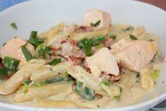 Kremete Laks, bacon og reke pasta | Spiselise