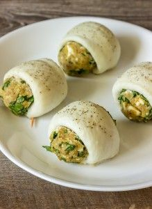 Spinach and Feta Stuffed Tilapia - use feta and cream cheese instead of ricotta and egg and leave out bread crumbs