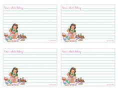 de jolies cartes de recette... qui auront tout autant leur place sur vos créations...