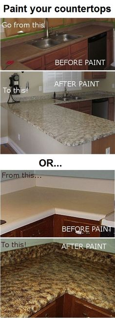 Awesome DIY project: Paint your own counter-tops! Click here to read Teri's instructions: http://www.hometalk.com/144797/i-finished-painting-my-kitchen-countertops-this-weekend