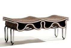 Sofá en Fieltro y Acero, Muebles Modernos, Estilo Industrial 1