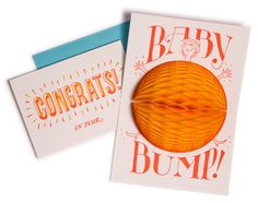 Ladyfingers Letterpress - Baby Bump Surprise!