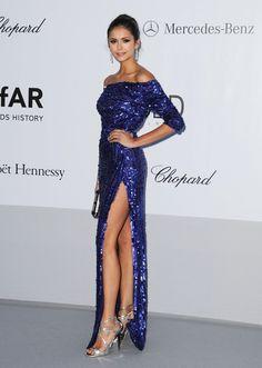 Nina Dobrev Off-the-Shoulder Dress