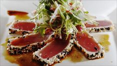 Sesampanert tunfisk Tuna, Chili, Seafood, Fish, Snacks, Dinner, Drinks, Ideas, Cilantro