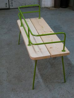 Panka Indoor/ outdoor bench New version in by FunkTastik on Etsy