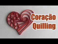 Coração de Quilling tutorial