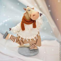 Купить Как корова на льду!.. (на заказ) - белый, нежность, милый, Снег, зима, корова