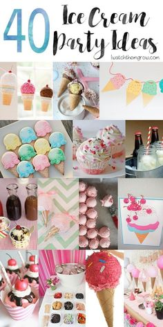 Planning an ice cream party? You need to see this list of over 40 awesome ice cream party ideas! From serving hacks to DIY decorations to creative treats and mo
