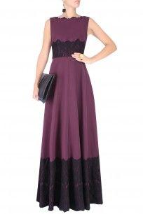 Deep Purple Lace Applique Fay Gown #perniaspopupshop #swateesingh #designer #clothing #formal #partywear #classy #shopnow #happyshopping