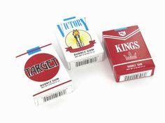 Bubble Gum Cigarettes  with powder 'smoke'