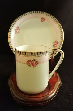 Tea cup with Roses by HathawayCandC on Etsy