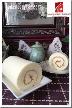 Swiss roll with cooked dough method