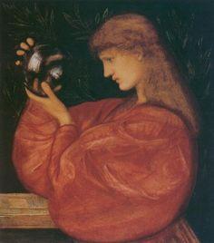 Astrologia - Burne-Jones Edward Style: Romanticism Genre: allegorical painting