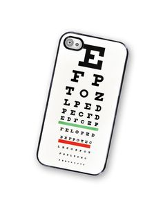 iPhone Case Eye Chart Medical iPhone Hard by TheCuriousCaseLLC, $18.00