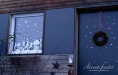 Scherenschnitt Adventsfenster