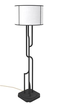 AKAR DE NISSIM's iconic Art Deco floor lamp GATSBY with a black and white…