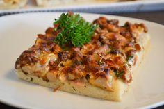 pfifferling-kuchen #kuchen #herzhaft #blondieundbrownie #pfifferlinge #maennerkuchen