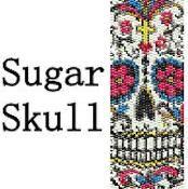 Sugar Skull Bracelet - via @Craftsy