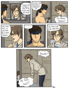 Oh, Otacon... When will you learn? (Credit to artist on deviant-art)