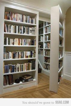 beautiful... Secret doors leading to more books. I love it
