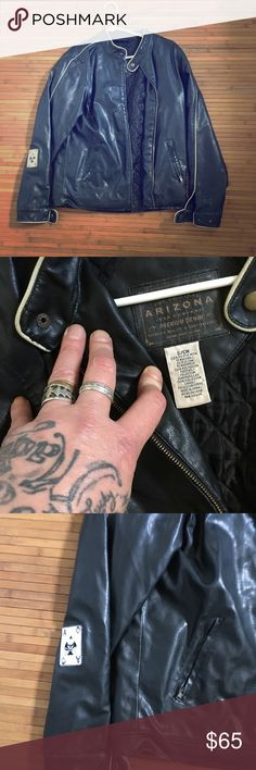 Motorcycle leather jacket Broken in nice leather jacket Arizona Jean Company Jackets & Coats Performance Jackets