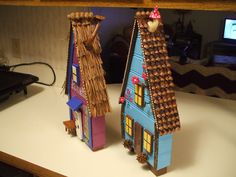 Fairy Houses side view to see the roofs of each house by rambrosius gifts