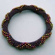 Bead Crochet Pattern Large Dimensional by WearableArtEmporium
