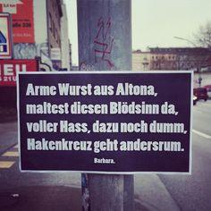 #hamburg #altona #armewurst #zuschweresymbolefürvollpfostenklientel #barbara #barbaraklebt