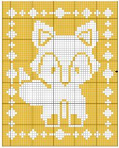 Crochet Patterns Diagram Filet Fox Blanket Crochet Pattern - The Lavender Chair Crochet Blanket Border, Crochet Lace Edging, C2c Crochet, Crochet Baby, Crochet Patterns Filet, Cross Stitch Patterns, The Lavender Chair, Crochet Hood, Bobble Stitch