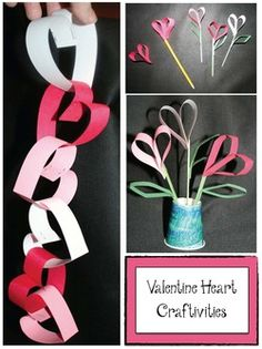 Valentine Heart Crafts A paper chain for Valentine's D. Valentine Heart Crafts A paper chain for Valentine's Day Valentines Day Hearts, Valentine Heart, Kids Valentines, Valentine Ideas, Valentines Day Activities, Valentine Day Crafts, Valentine's Day Crafts For Kids, Crafts To Do, Chocolate Bonbon