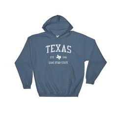 Vintage Texas TX Adult Hoodie (Unisex)