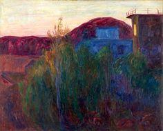 Erichsen, Thorvald - Maisema (Balbergkampen) de 1907 Van Gogh, Landscapes, Paintings, Art, Scenery, Paint, Paisajes, Painting Art, Painting