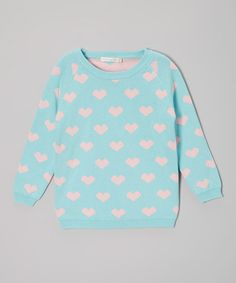 Take a look at this Blue & Pink Heart Sweater - Toddler & Girls by Designer Kidz on #zulily today!