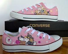 online store 91211 8f4b9 Custom Hand Painted Converse Shoes cute Japanese, tsumineko , kawaii cats