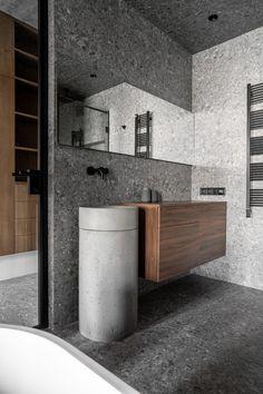 Home Room Design, Bathroom Interior Design, House Design, Furniture Projects, Furniture Design, Composition Design, Apartment Layout, False Ceiling Design, Black Kitchens