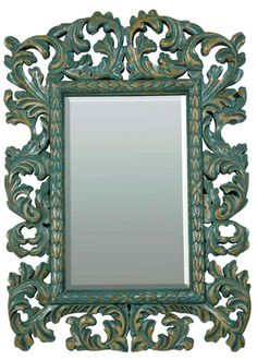 Just BEAUTIFUL..for a tween girls bedroom. could paint my similar mirror for her room.